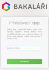 Bakaláři – zadejte email