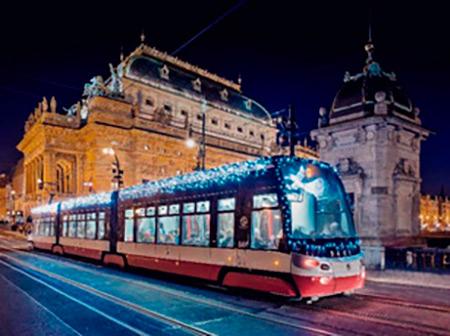 tramvaj vánoční
